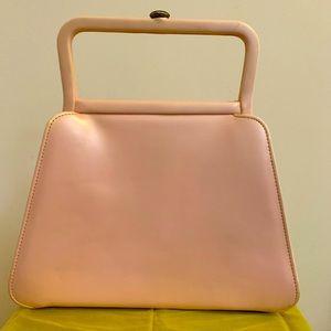 Lou Taylor Vintage pink leather 1960's handbag